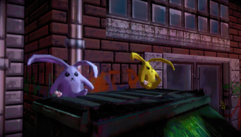 Cabbits outside the purgatory in Johnny Gat's Simulation in Saints Row IV