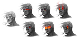 Johnny Gat Concept Art - Gat out of Hell Demonic look - seven faces