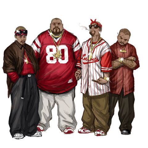 File:Los Carnales Concept Art - four gang members.jpg