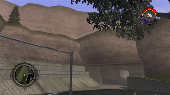 Mount Claflin - view of tunnel in Saints Row