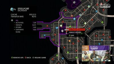 Virus collection named on map screen in livestream