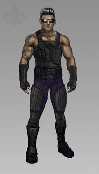 Johnny Gat Concept Art - Super Homie - single shirtless with armour