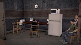 Donnie's - Interior in Saints Row 2 - storeroom kitchen area