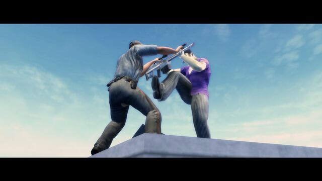 File:... and a Better Life Intro - Gat fighting Ultor policeman.jpg