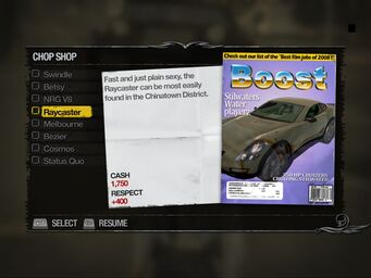 Raycaster - Apartments Chop Shop list in Saints Row 2