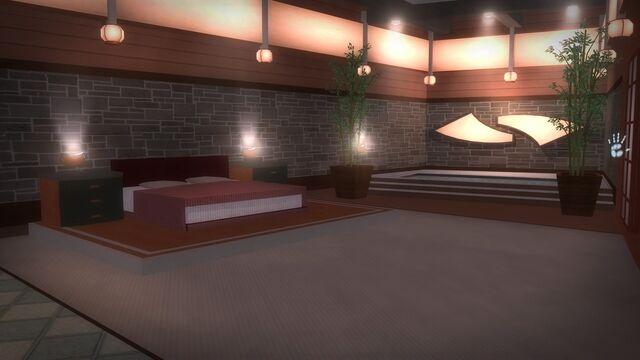 File:Tohoku Towers - room with bed.jpg