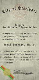 Credits - Mayor Certificate - David Seaboat
