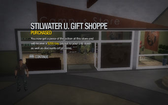Stilwater U. Gift Shoppe purchased in Saints Row 2