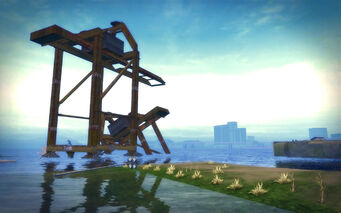 Stoughton in Saints Row 2 - sunken dock
