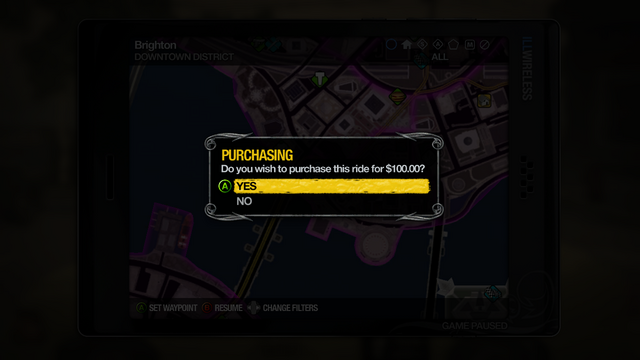 File:Taxi Service - purchasing ride in Saints Row 2.png
