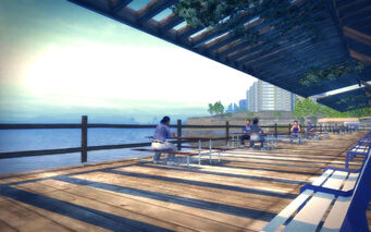 Sommerset in Saints Row 2 - shore front