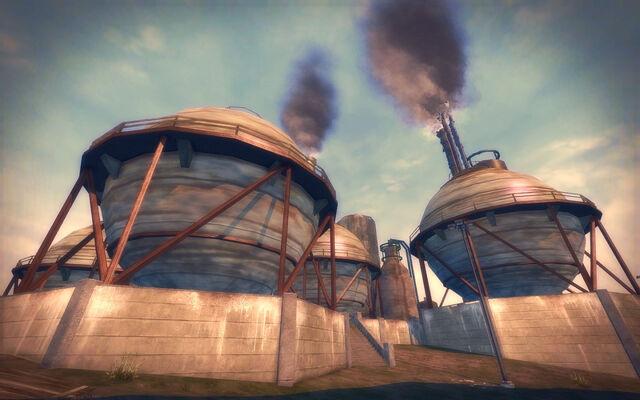 File:Pilsen in Saints Row 2 - refinery spheres.jpg