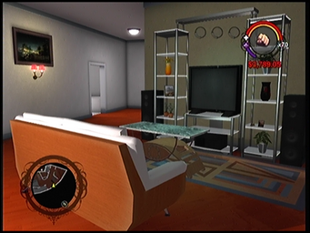 The living area in Anthony's condo in Saints Row