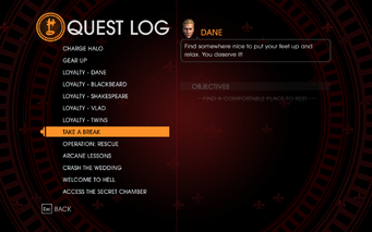 Gat out of Hell - Completed Quests - Take a Break