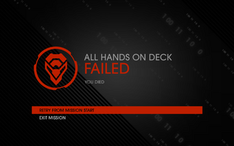 All Hands on Deck fail screen