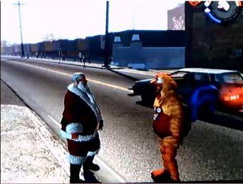 Chicken Ned vs. Santa Claus