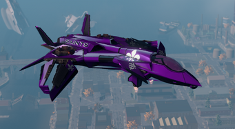 Saints VTOL - hover mode - front right in Saints Row The Third