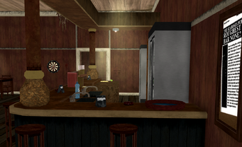 Sea Roses - interior side of bar area with name plaque in Saints Row 2