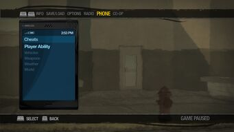 Cheat Menu in Saints Row 2 on PC