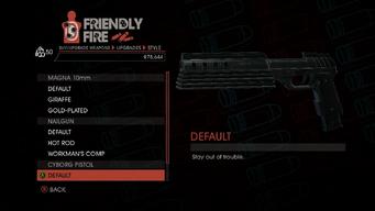 Weapon - SMGs - Rapid-Fire SMG - Cyborg Pistol - Default