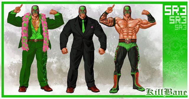 File:Killbane Concept Art - three outfits.jpg