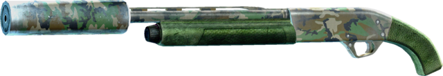 File:SRIV Shotguns - Semi-Auto Shotgun - Full Choke Silenced - Green Camo.png