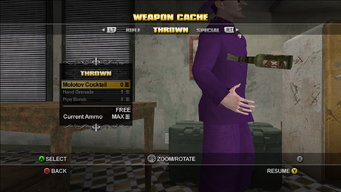 Saints Row Weapon Cache - Thrown - Molotov Cocktail flip