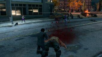 Grenade blows apart a Brute's head