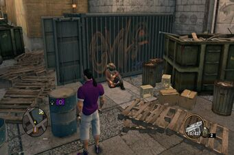 Bum sitting in Saints Row The Third