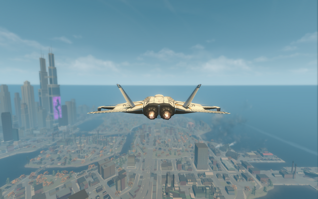 File:F-69 VTOL - jet mode - rear in Saints Row The Third.png