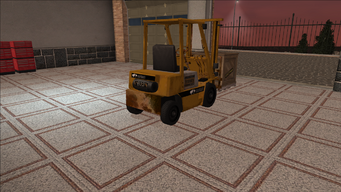 Saints Row variants - Forklift - industrial with crate - rear right