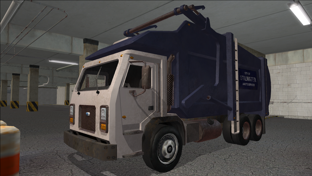 File:Saints Row variants - Stilwater Municipal - Garbage Truck - front left.png