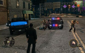 Zombie Horde attacking Deckers and Police