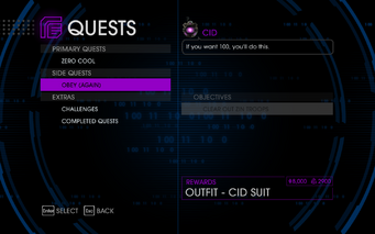Quests Menu - Obey (Again)