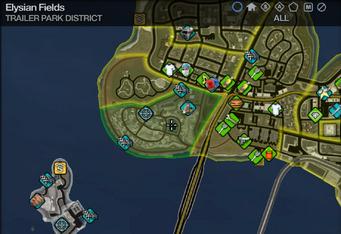 Map in Saints Row 2 - Trailer Park - Elysian Fields