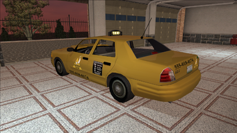Saints Row variants - Taxi - Chop Shop - rear left