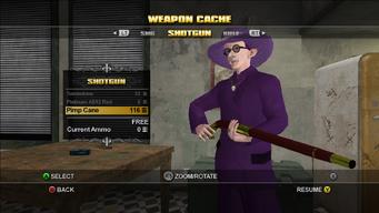 Saints Row Weapon Cache - Shotgun - Pimp Cane