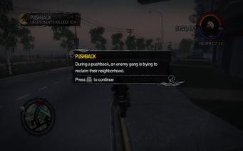 Pushback tutorial description in Saints Row 2