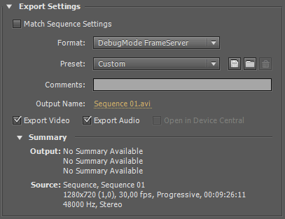 Premiere export-settings