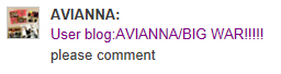 File:Avianna asking people to comment on her blog.jpg
