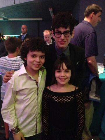 File:Cameron and his sister with Matt Bennett at 2013 pre-KCA party.jpg