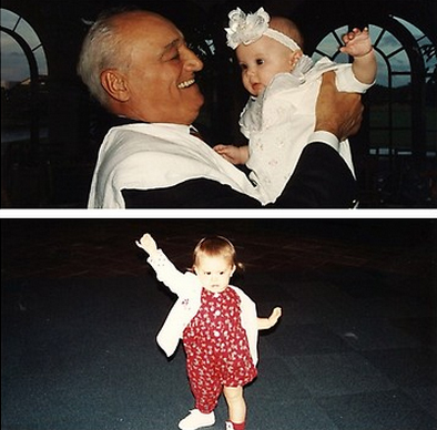 File:Ariana with her grandfather as a baby.jpg