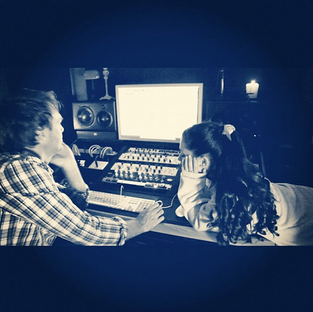 File:Ariana working on a new cover with Peter Stengaard.jpg