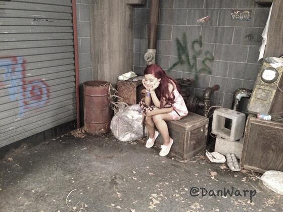 File:Ariana on set - album cover look May 6, 2013.jpg