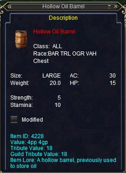 Hollow Oil Barrel