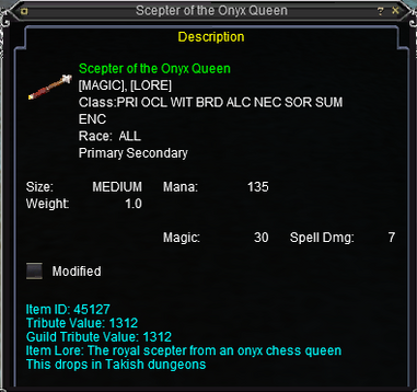 Scepter of the Onyx Queen