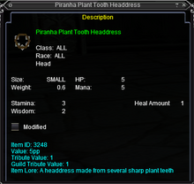 Piranha Plant Tooth Headdress