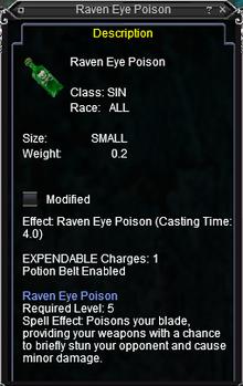 Raven Eye Poison