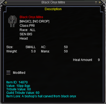 Black Onyx Mitre