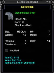 Elegant Black Scarf